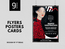 Professional flyer, poster, card design