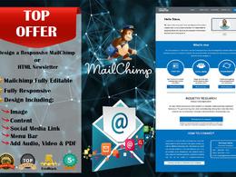 Design a Responsive MailChimp or HTML Newsletter