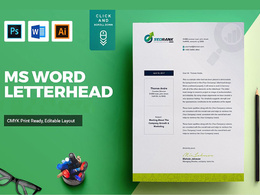 Design simple and nice looking letterhead word template