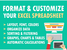 Format and Customize your Excel Spreadsheet tasks in 15 pages