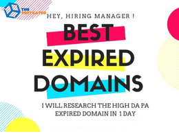 Research High DA and PA Expired Domain for your website