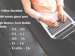 Guest post on Tech Mobile Website - DR36 DA40 TF34 PA43