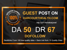 Post on Harcourthealth - Harcourthealth.com  DA 50 Dofollow Link