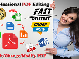Edit, convert, change data and combine PDF