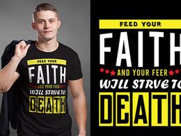 Do a custom typography t-shirt design