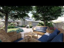 Create a landscape design for your garden (2D and 3D)