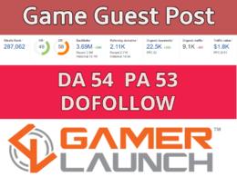 Do high quality Guest Post on gamelaunch da54