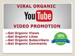 Massive organic Youtube Video Promotion