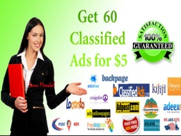 Post your ads on 50 classified sites manually