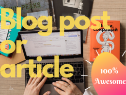 Create 700 word genuine blog post or article with images.