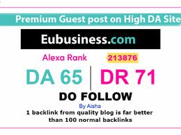 Guest post on Eubusiness – Eubusiness.com DA 65 DR 71 Do follow