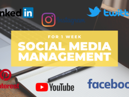 Manage 1 Social Media Channel for 1 Week
