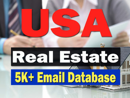 Email Address of Real State in the USA (5000+ Emails)