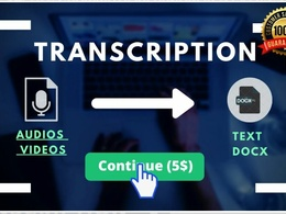 Transcribe 60 minutes of Audio or Video to Text like Word PDF