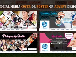 Design high quality Social Media Cover, posters or advert