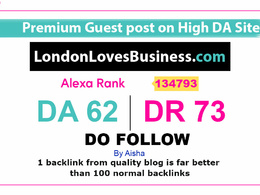 Guest post on LondonLovesBusiness - LondonLovesBusiness.com DR72
