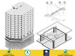 Create structural revit model (for Area 1000 m2)
