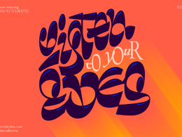 Create an expressive lettering piece