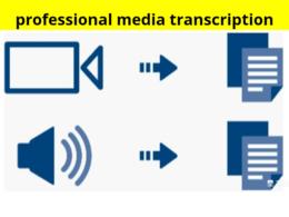 Accurate transcription of 60 minutes digital recording.