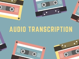 Transcribe 30 minutes of audio