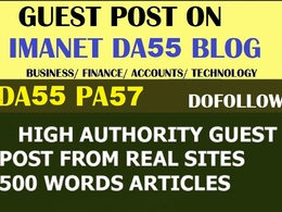 Guest Post On Imanet finance,tech and accounting DA55 niche Blog