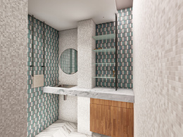 Design bathroom+HQ renders+dimension drawings