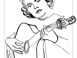 Draw you a continuous line drawing of one subject