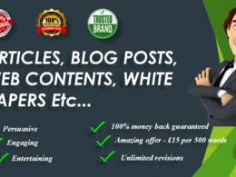 Write 1000 words SEO optimized website content