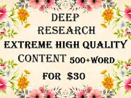 Extreme level Content Writing 500+word Any Topic/Subject