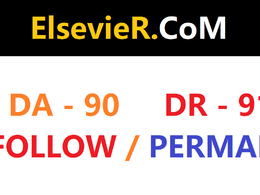 Write and publish guest post on elsevier, com da90 DR 91