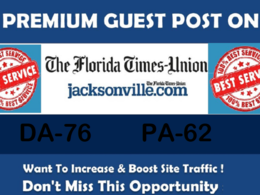 Write and Publish Premium Guest Post on jacksonville.com