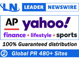 Publish/press release/guest post on Yahoo(Finance+Lifestyle)