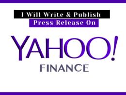 Publish Press Release on Yahoo Finance (finance.yahoo.com) DA 99