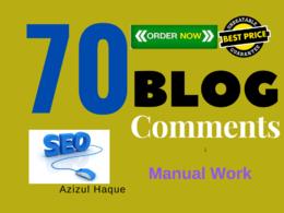 Do 70 Unique Domain High Quality Blog Comment
