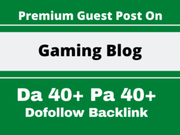 Write and publish your article on gaming niche blog