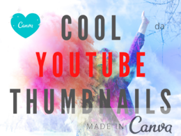 Create 2 attractive thumbnails for YouTube video using Canva