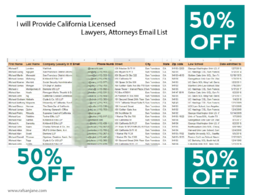 Provide 10k US  licensed lawyers, attorneys email list