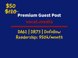 Guest Posting on vocal.media|DA: 63|Dofollow|M.Visitors: 857k