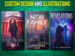 Design custom or illustrated book cover