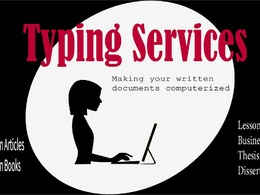 Copy and type your written/scanned documents