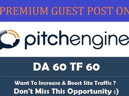 Publish a guest post on PitchEngine - PitchEngine.com - DA64