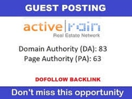 Publish real estate Guest Post on activerain with DF Links