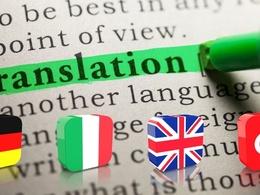 Translate in German, English, Italian, Turkish up to 500 words