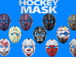 Design hokey face mask with PSD file