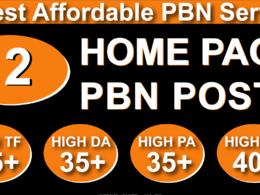 Homepage 12 PBN High 20 Plus DA PA CF TF Moz Authority Domain