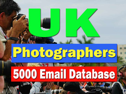 Email adresses of photographer in the UK (5000Emails)