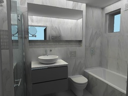 Create 3D visuals for your bathroom