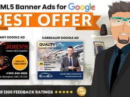 Design creative HTML5 banner ads for google ads