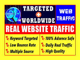 Drive 5000+ organic website traffic | Adsense Safe