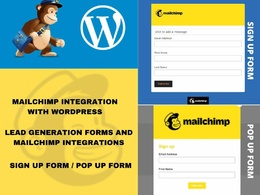 Integrate mailchimp with your wordpress website